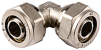 Уголок ЗУБР соединительный, цанга-цанга, 16х16х2,0, никель