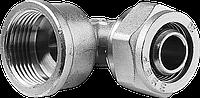"Уголок ЗУБР с внутренней резьбой, цанга-гайка, 1/2""х16х2,0 мм, никель"