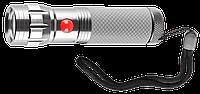 """Фонарь ЗУБР """"Мастер"""" ручной, алюминиевый двукомпонентный корпус, 9 светодиодов, 3ААА, металлик"""