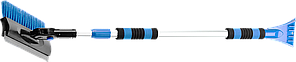 """Щетка-сметка автомобильная ЗУБР """"ПРОФИ"""" для снега, телескопическая, поворотная, со скребком и водосгоном,"""