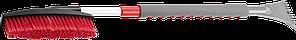 """Щетка-сметка автомобильная ЗУБР """"Мастер"""" для снега, телескопическая, поворотная, со скребком, 810-1060мм"""