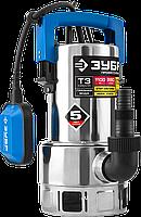 ЗУБР Профессионал НПГ-Т3-1100-С, дренажный насос  для грязной воды, корпус - нерж. сталь, 1100 Вт, фото 1