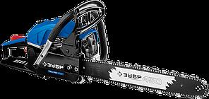 Пила цепная бензиновая, ЗУБР Профессионал ПБЦ-490 45ДП, хромир. цилиндр, праймер, декомпрессионный клапан, 49