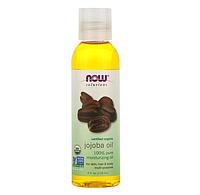 Now Foods, Решения, сертифицированный органический продукт, масло жожоба, 118 мл