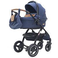 """Rant Детская коляска 2 в 1 Rant """"Alaska"""" (blue jeans), всесезонная коляска зима-лето; вес с люлькой:"""