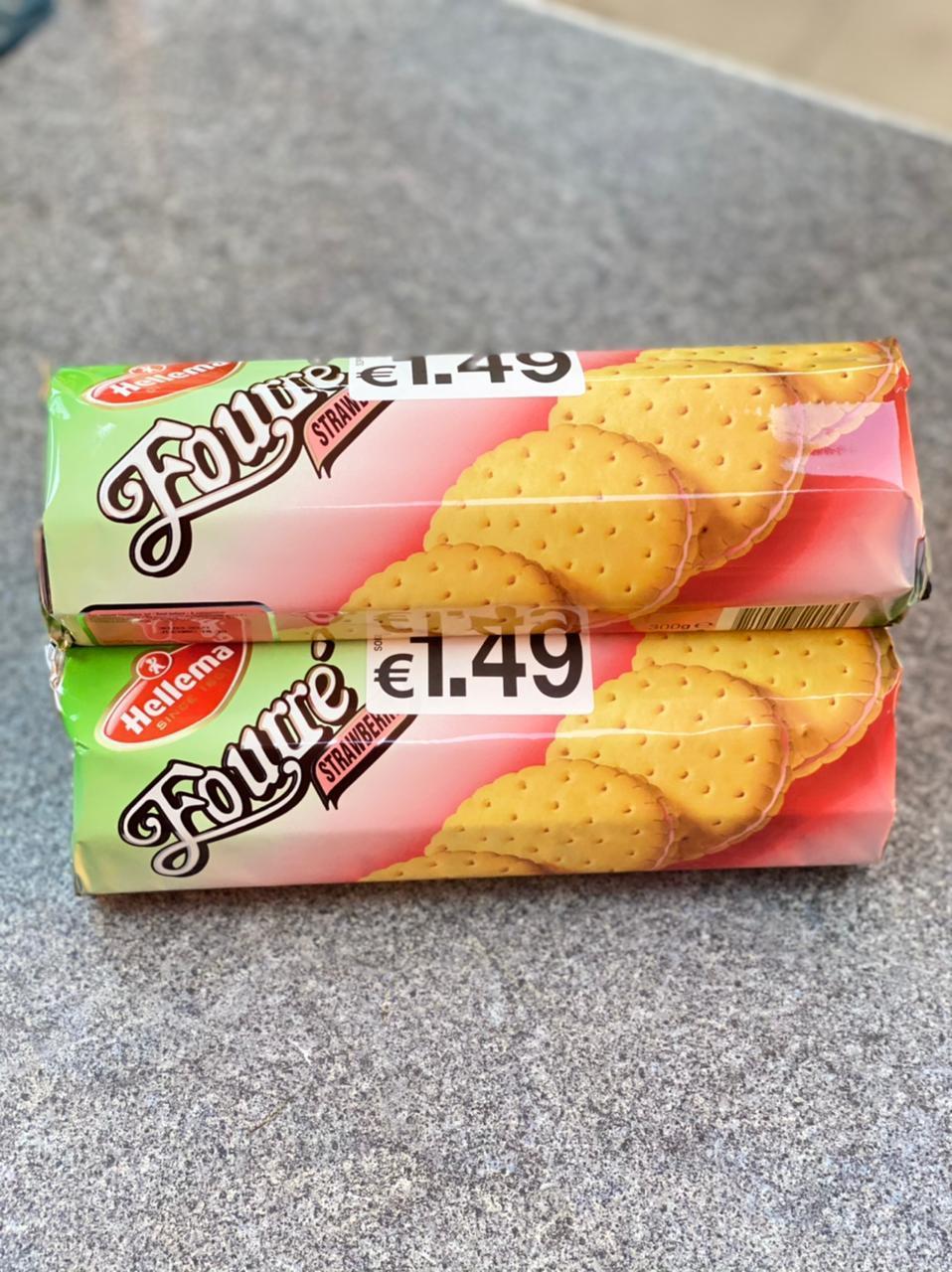 Печенье Fourre клубничное 300гр