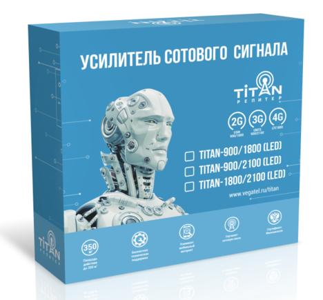 Комплект усилителя GSM (сотовой связи) Titan-1800/2100 (LED)