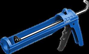 ЗУБР лёгкий полукорпусной пистолет для герметика Эксперт, 310 мл, серия Профессионал