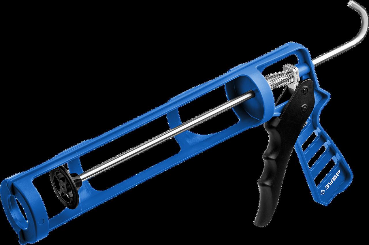 ЗУБР скелетный пистолет для герметика ДОКА, антикапельная система, 310 мл. Серия Профессионал