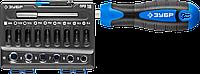 ЗУБР Профессионал-Б16 набор: отвертка-битодержатель с насадками 16 шт