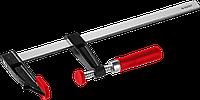 """Струбцина ЗУБР """"Мастер"""", тип """"F"""", пластмассовая ручка, стальная закаленная рейка, 50х200мм, фото 1"""