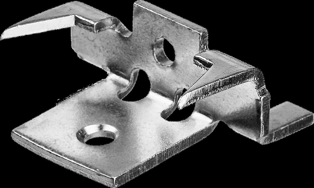 Крепеж с шипами и дистанциром для террасной доски Союз, 80 шт, ЗУБР