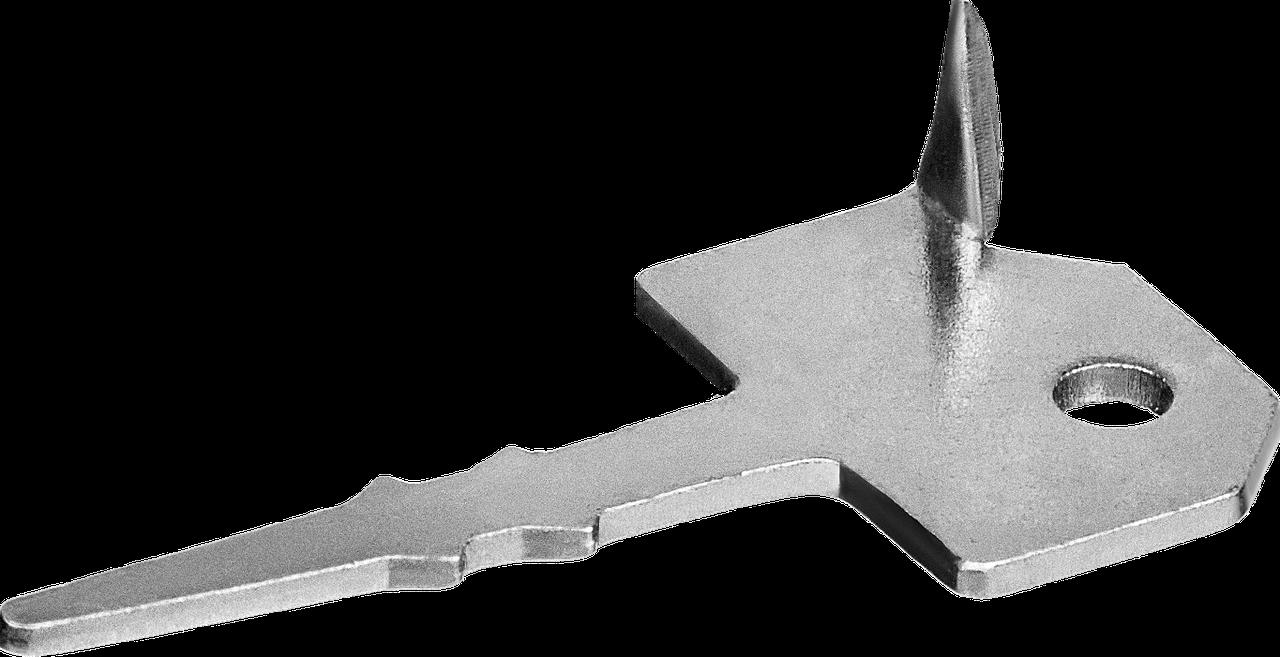 Крепеж Ключ с шипом для террасной доски 60 х 30 мм, 200 шт., ЗУБР