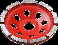 Двухрядная ЗУБР чашка алмазная шлифовальная сегментная 115 мм, МАСТЕР 115, 12360, Однорядная, фото 1