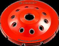 Двухрядная ЗУБР чашка алмазная шлифовальная сегментная 115 мм, МАСТЕР 125, 11370, Однорядная, фото 1