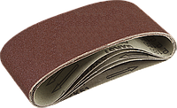 ЗУБР 75х457 мм, P40, лента шлифовальная СТАНДАРТ, для ЛШМ, 5 шт. 180