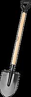"""Лопата """"Мастер"""" штыковая, ЛКО, деревянный черенок, с рукояткой, ЗУБР, фото 1"""