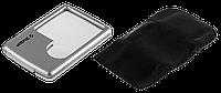 "Лупа ЗУБР ""Мастер"" карманная, светодиодная подсветка, 3-х/6-х кратное увеличение, размер линзы 45х45мм"