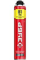 PRO B1 огнестойкая пена монтажная, пистолетная, огнестойкая, 750мл, SVS, ЗУБР