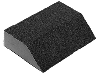 "Губка шлифовальная ЗУБР ""Мастер"" четырехсторонняя угловая, средняя жесткость, Р80, 100х68х42х26мм"