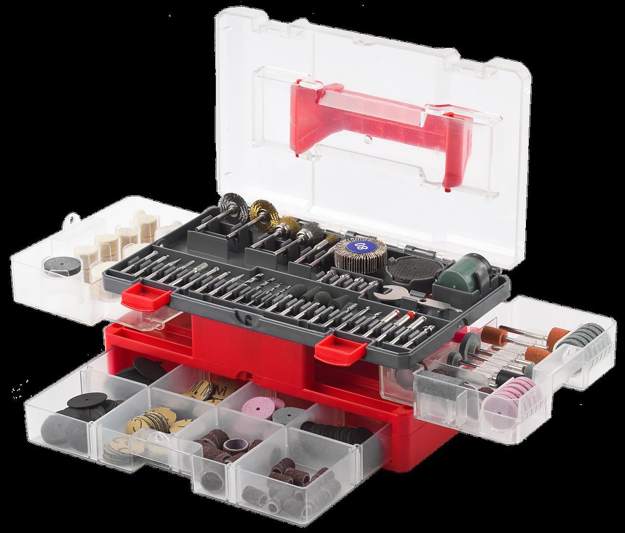 Набор мини-насадок ЗУБР для гравировальных машин, 349 предметов