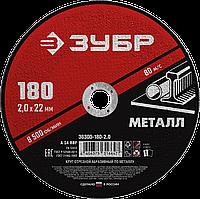Круг отрезной абразивный по металлу, для УШМ, 115 x 1,0 мм, ЗУБР Мастер 10200 об/мин, A40RBF