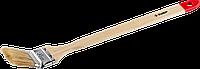 """Кисть радиаторная угловая ЗУБР """"УНИВЕРСАЛ-МАСТЕР"""", светлая натуральная щетина, деревянная ручка, 25мм          2"""
