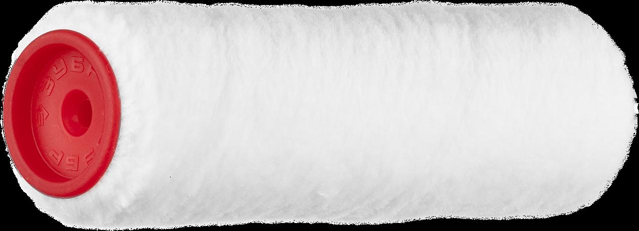 """Ролик сменный """"ВЕЛЮР-АКВА"""", полиэстер, для водорастворимых акрил лаков, ворс 4мм, ручка 6мм, d=40/180мм, ЗУБР"""