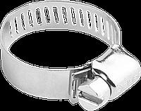 Хомуты оцинкованные, просечная лента 12.7 мм, 16-32 мм, 100 шт, ЗУБР 100