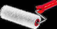 """Валик игольчатый ЗУБР """"Мастер"""" для наливных полов в сборе, пластмассовые иглы 13мм, 72х200мм"""