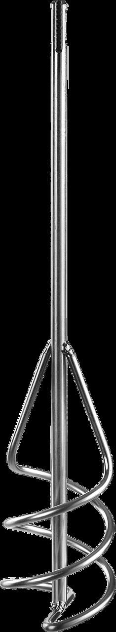 """Миксер ЗУБР """"Профессионал"""" для песчано-гравийных смесей, SDS+ хвостовик, оцинкованный, на подвеске, 80x400мм"""