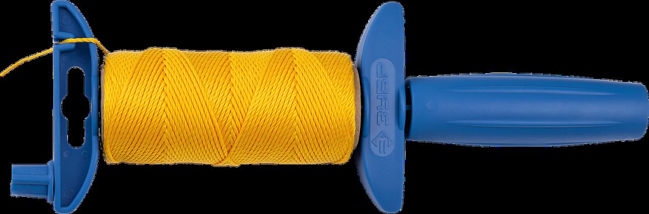 Шнур ЗУБР нейлоновый, для строительных работ, сменная шпуля, на катушке, 100м                                  50, 1 50 м.