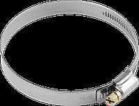 Хомуты, нерж. сталь, накатная лента 12 мм, 100-120 мм, 50 шт, ЗУБР Профессионал 100