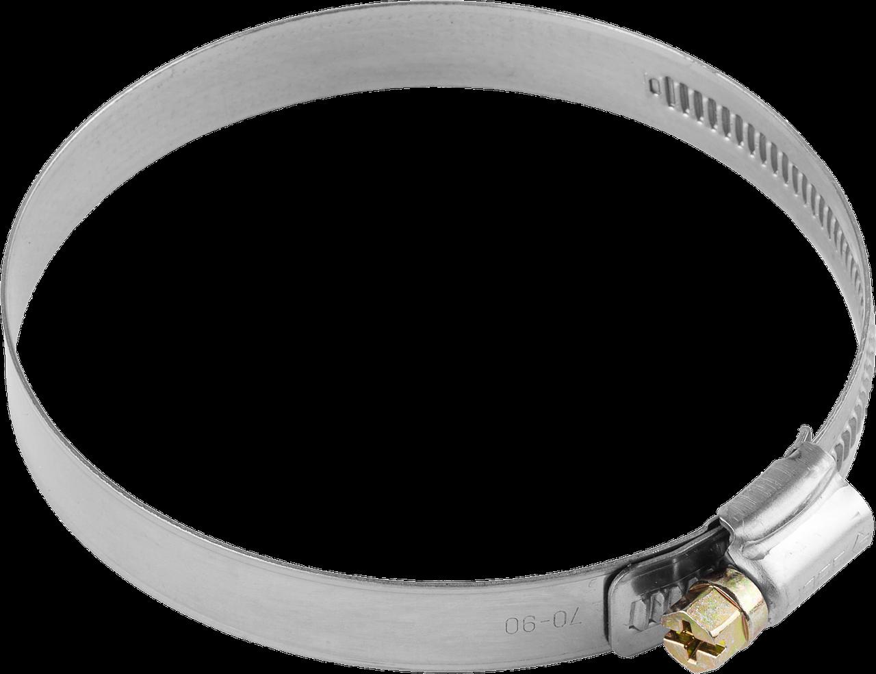 Хомуты, нерж. сталь, накатная лента 12 мм, 100-120 мм, 50 шт, ЗУБР Профессионал 50
