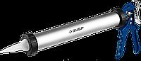 ЗУБР 600 мл универсальный закрытый пистолет для герметика, алюминиевый корпус, серия Профессионал, фото 1