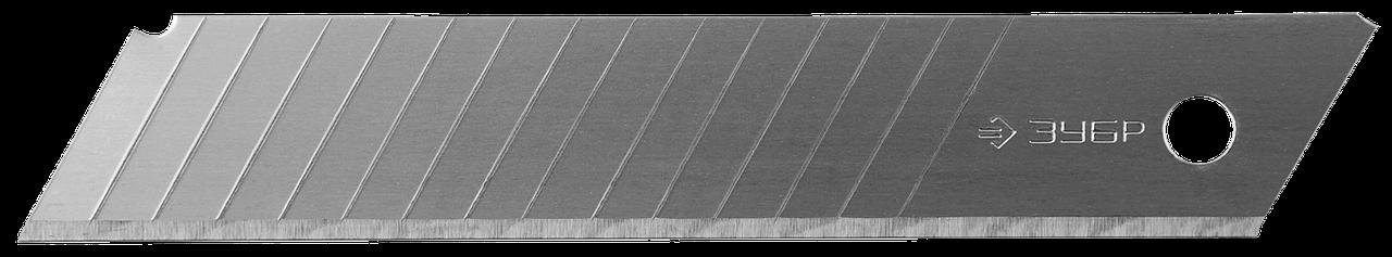 ЗУБР 18 мм лезвия сегментированные, 10 шт, 15 сегментов