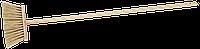 Метла ЗУБР с деревянной ручкой, ПЭТ, 120см, 24см