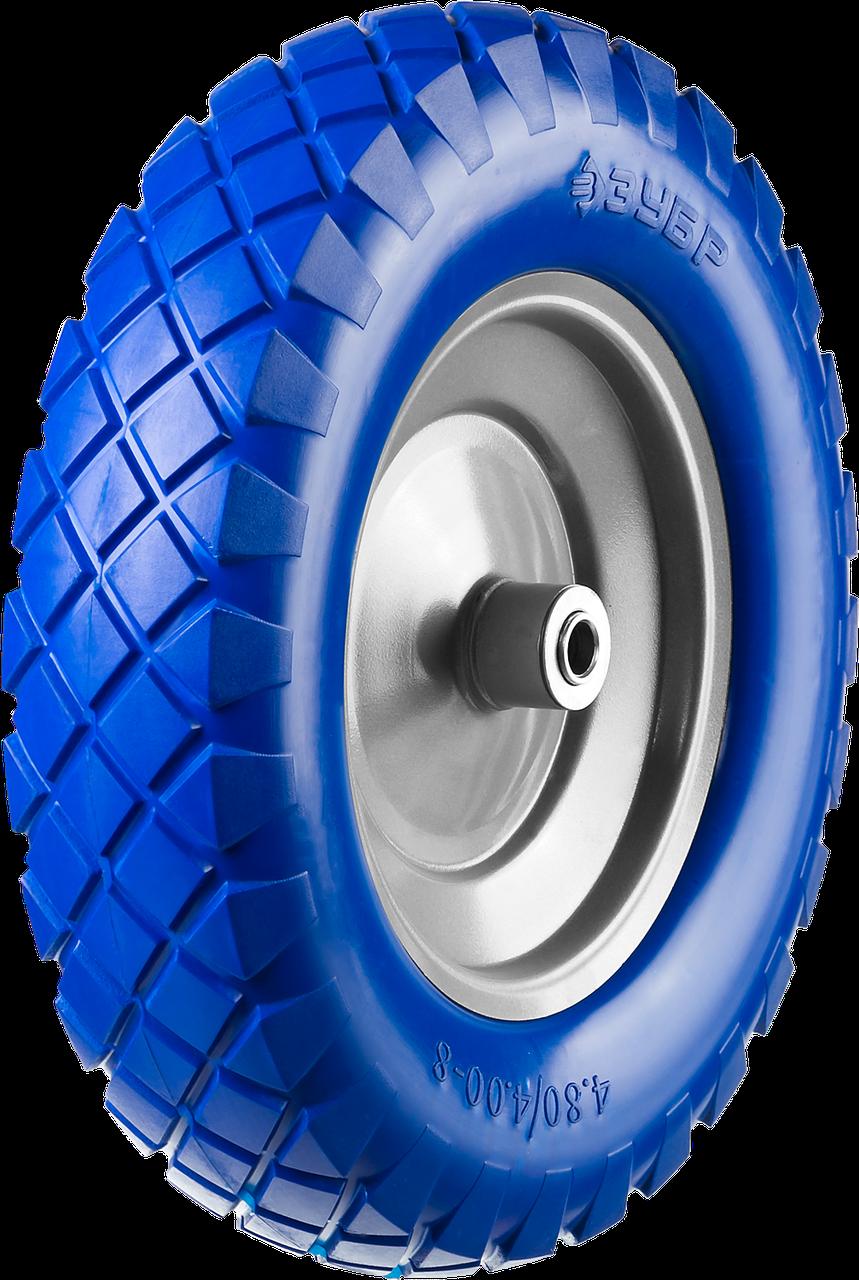ЗУБР КПУ-1 колесо полиуретановое для тачки 39901,  350 мм 16, 380