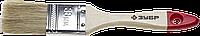 """Кисть плоская ЗУБР """"УНИВЕРСАЛ-СТАНДАРТ """", натуральная щетина, деревянная ручка, 38мм"""
