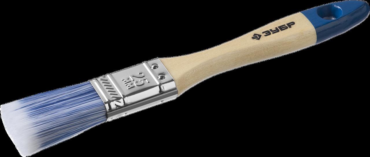 """Кисть плоская ЗУБР """"АКВА-МАСТЕР"""", искусственная щетина, деревянная ручка, 25мм"""