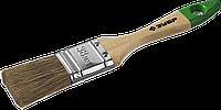 """Кисть плоская ЗУБР """"ЛАЗУРЬ-МАСТЕР"""", смешанная щетина, деревянная ручка, 20мм 1.5"""