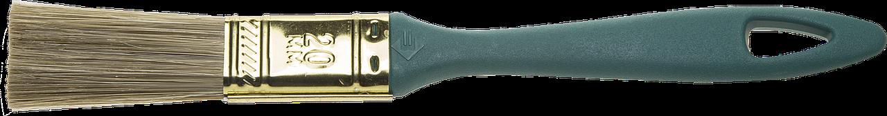 """Кисть ЗУБР """"КП-14"""" плоская, смешанная щетина, пластмассовая рукоятка, 20мм"""