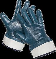 Перчатки ЗУБР рабочие с полным нитриловым покрытием, размер L (9) M