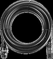 """ЗУБР Шланг всасывающий, с фильтром и обратным клапаном, 1"""", 4м 7"""