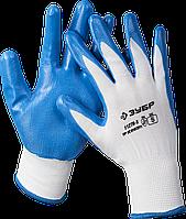 """Перчатки ЗУБР """"Мастер"""" маслостойкие для точных работ, с нитриловым покрытием, размер M (8) S"""