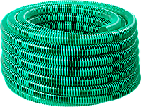 ЗУБР Шланг напорно-всасывающий со спиралью ПВХ, 3 атм, 19мм х 15м 360, 38, 15, фото 1