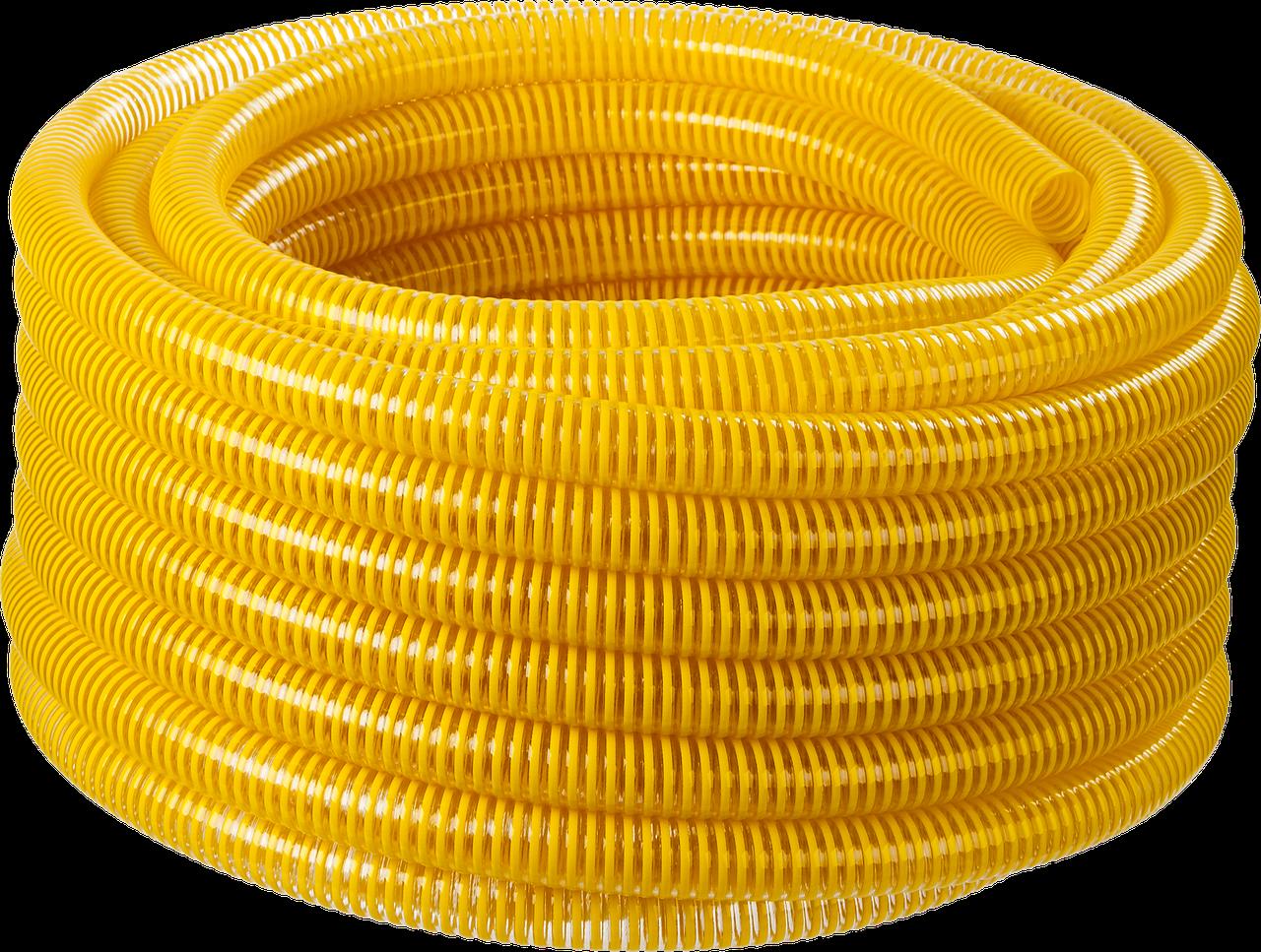 ЗУБР Шланг напорно-всасывающий со спиралью ПВХ, 10 атм, 19мм х 15м 480, 38, 15