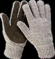 ЗУБР ПОЛЮС, размер L-XL, перчатки утепленные, с флисовой подкладкой и спилковым наладонником., фото 1