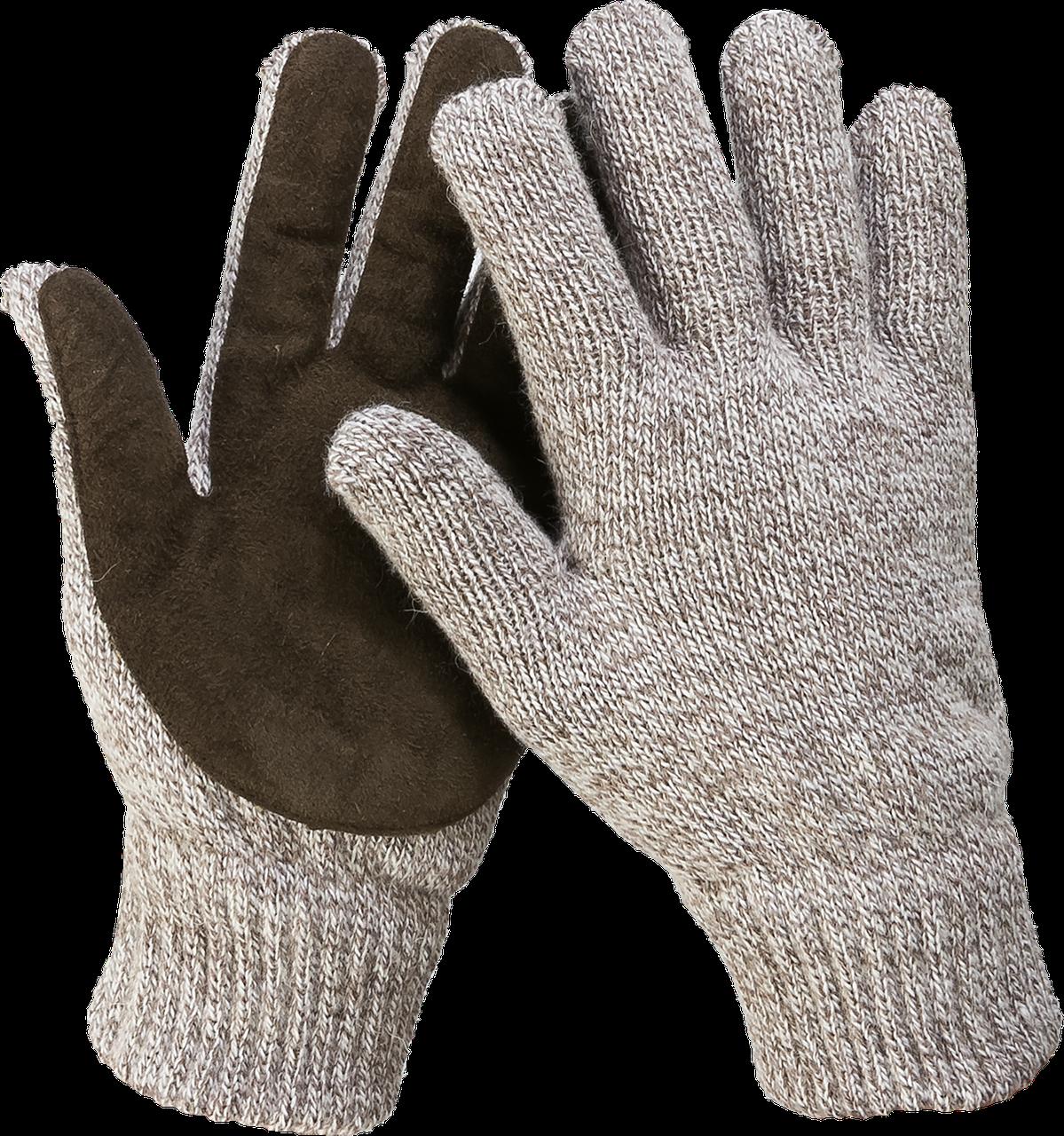 ЗУБР ПОЛЮС, размер L-XL, перчатки утепленные, с флисовой подкладкой и спилковым наладонником.