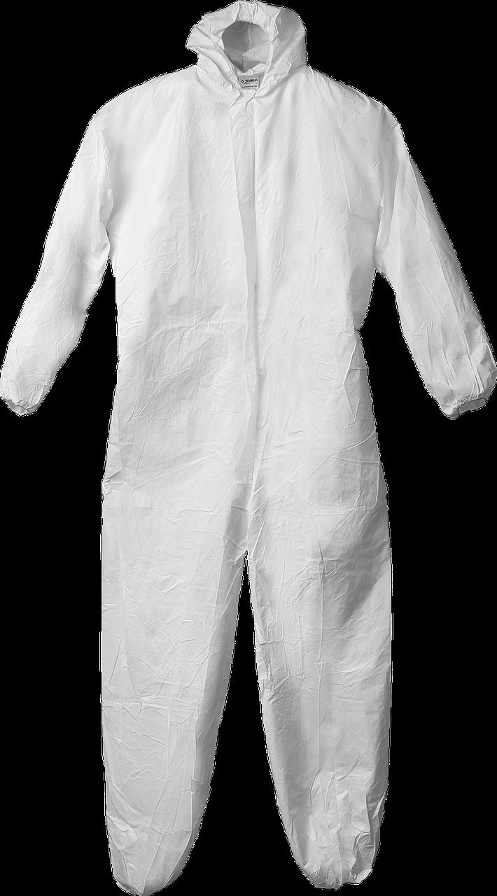 """Комбинезон ЗУБР """"Профессионал"""" защитный из микропористого материала, 50-52 размер 52-54"""